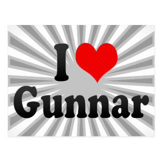 I love Gunnar Postcard