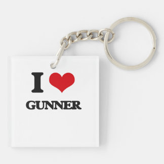 I love Gunner Square Acrylic Keychain