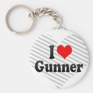 I love Gunner Key Chains