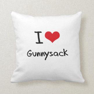 I Love Gunnysack Pillow
