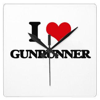 I love Gunrunner Square Wallclock