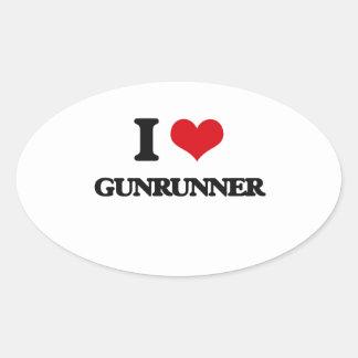 I love Gunrunner Oval Sticker