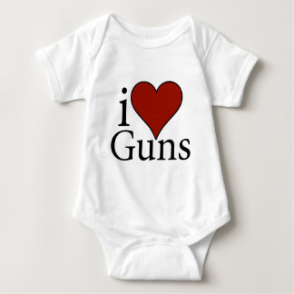 I Love Guns Baby Bodysuit