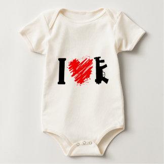 I Love Guns Baby Bodysuit