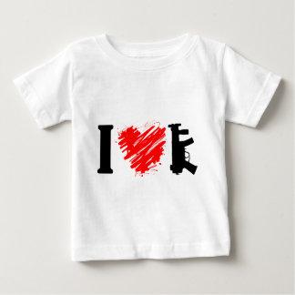 I Love Guns Baby T-Shirt