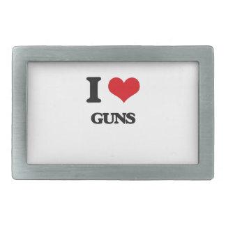 I Love Guns Belt Buckles