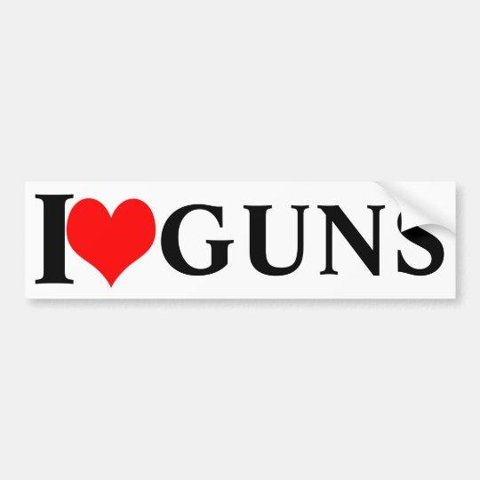 I love guns! bumper sticker
