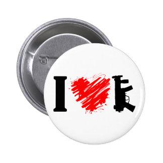 I Love Guns Button