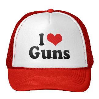 I Love Guns Trucker Hat