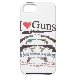 i love guns iPhone 5 cover