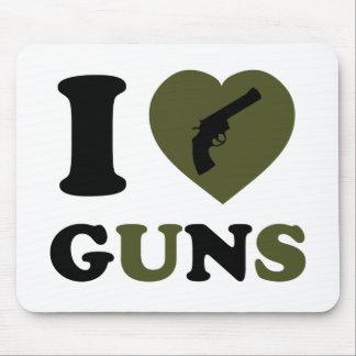 I Love Guns Mouse Pad