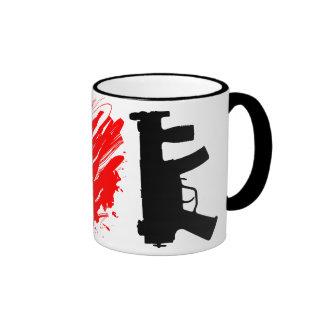 I Love Guns Ringer Mug