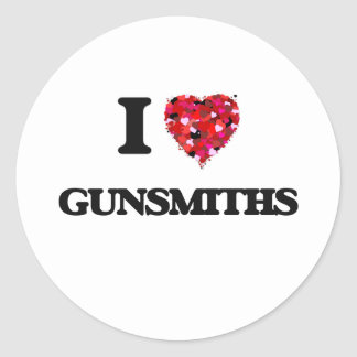 I love Gunsmiths Classic Round Sticker
