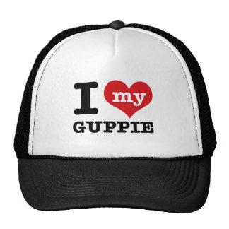 I Love Guppie Trucker Hats