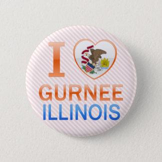 I Love Gurnee, IL Button
