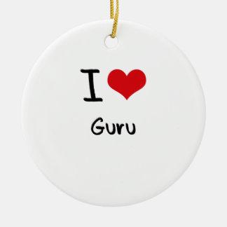 I Love Guru Ornaments