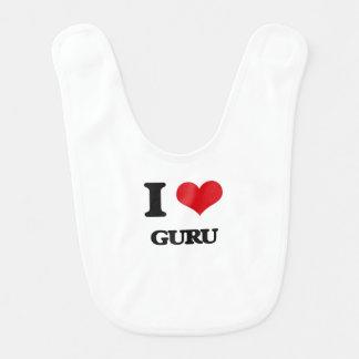 I love Guru Baby Bib