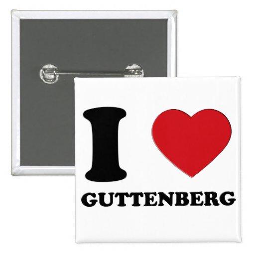 I LOVE GUTTENBERG 3D BUTTONS