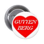 I LOVE GUTTENBERG ANSTECKNADELBUTTONS