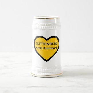 I Love Guttenberg circle Kulmbach Beer Stein