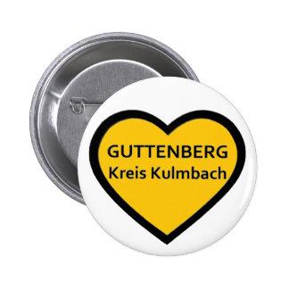 I Love Guttenberg círculo Kulmbach Pin Redondo De 2 Pulgadas