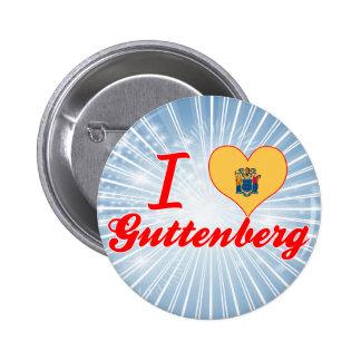 I Love Guttenberg New Jersey Buttons