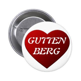 I LOVE GUTTENBERG PIN REDONDO DE 2 PULGADAS