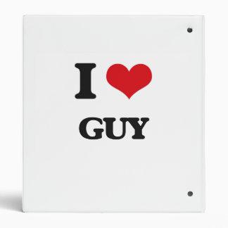 I Love Guy 3 Ring Binder