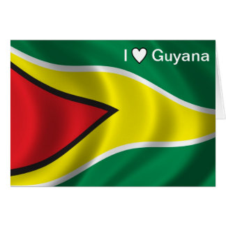 I Love Guyana - Greeting Card