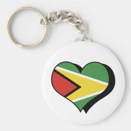 I Love Guyana Keychain
