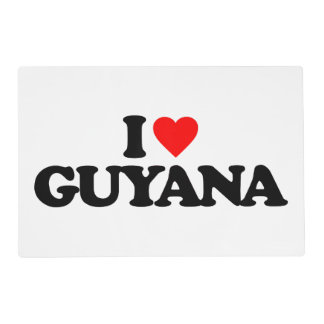I LOVE GUYANA PLACEMAT