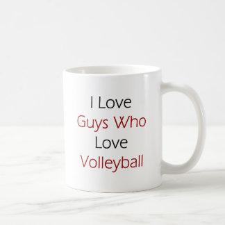 I Love Guys Who Love Volleyball Coffee Mug