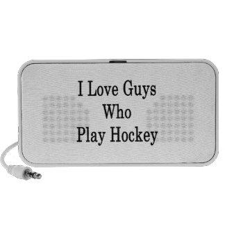 I Love Guys Who Play Hockey iPhone Speaker