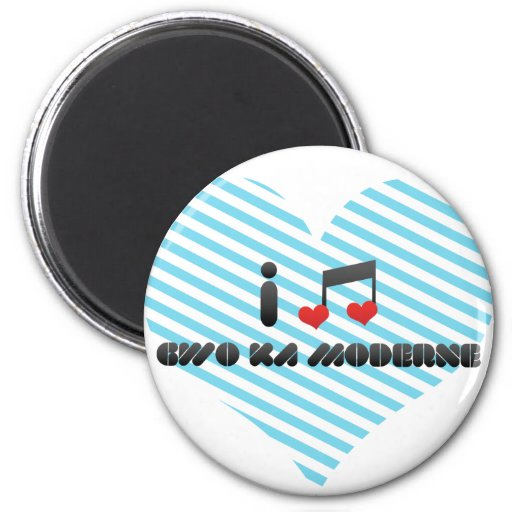 I Love Gwo Ka Moderne 2 Inch Round Magnet