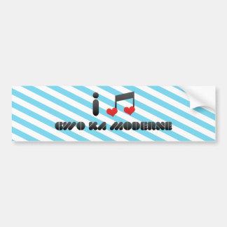 I Love Gwo Ka Moderne Car Bumper Sticker