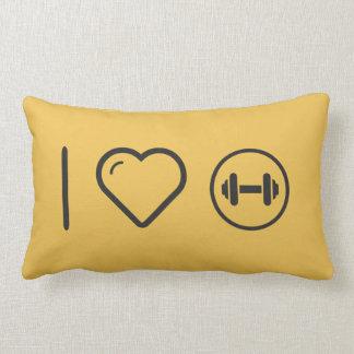 I Love Gym Barbels Lumbar Pillow