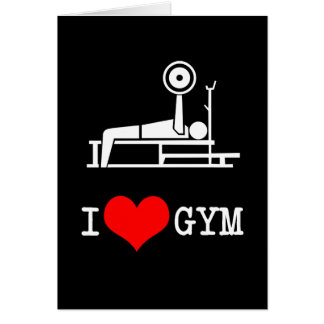 I Love GYM Greeting Card