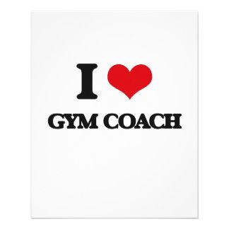I love Gym Coach Flyer Design