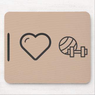 I Love Gym Dumbels Mouse Pad
