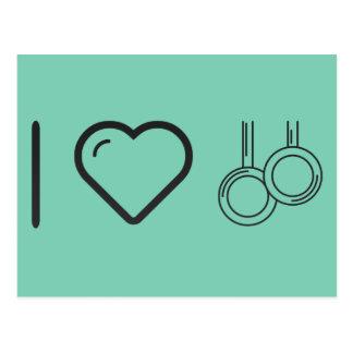 I Love Gym Tools Postcard