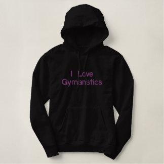 I Love Gymanstics Embroidered Hoodie