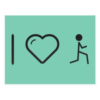 I Love Gymnast Bendings Postcard