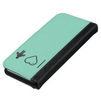I Love Gymnast Dumbells iPhone 6 Wallet Case