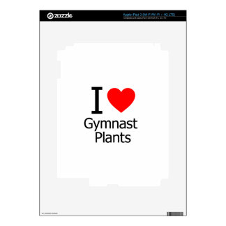 I Love Gymnast Plants Decals For iPad 3