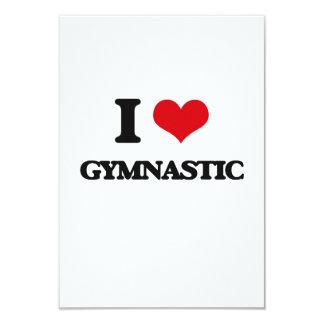 I love Gymnastic 3.5x5 Paper Invitation Card