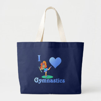 i love Gymnastics #1 Large Tote Bag
