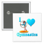 i love gymnastics #3 buttons