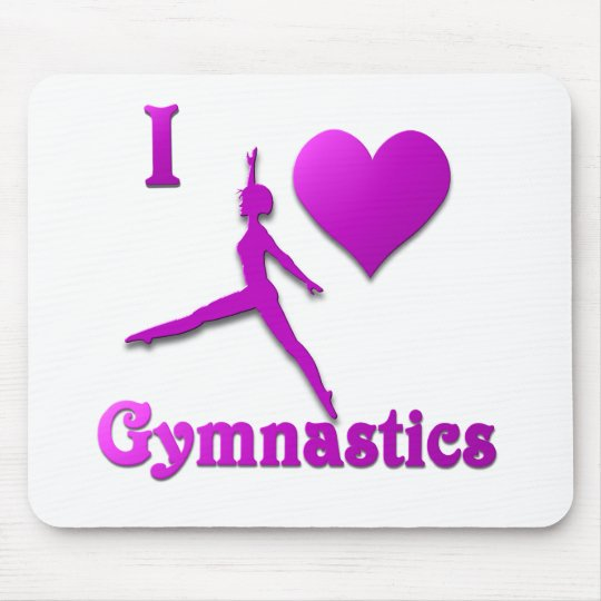 i love gymnastics #8 mouse pad