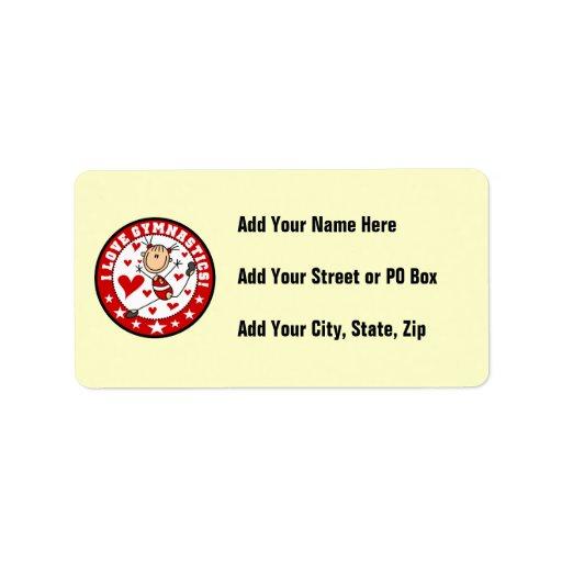 I Love Gymnastics Address Label