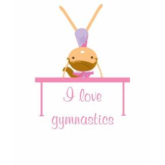 I love gymnastics balance beam cute girl's t-shirt shirt
